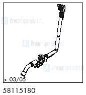HansGrohe Afvoer- en overloopgarnituren Exafill S productiejaar > 03/05 58115180 onderdelen