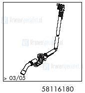 HansGrohe Afvoer- en overloopgarnituren Exafill S productiejaar > 03/05 58116180 onderdelen