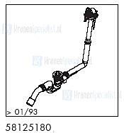 HansGrohe Afvoer- en overloopgarnituren Exafill productiejaar > 01/93 58125180 onderdelen
