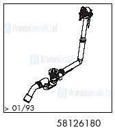 HansGrohe Afvoer- en overloopgarnituren Exafill productiejaar > 01/93 58126180 onderdelen