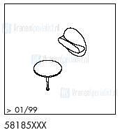 HansGrohe Afvoer- en overloopgarnituren Flexaplus productiejaar > 01/99 58185 onderdelen