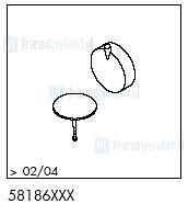 HansGrohe Afvoer- en overloopgarnituren Flexaplus productiejaar > 02/04 58186 onderdelen