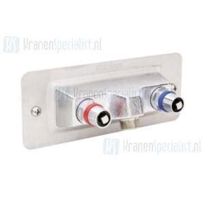 FM Mattsson Vorstvrije buitenmengkraan (warm en koud water) met sleutelbediening 70 x 180 mm (Verlengde versie)