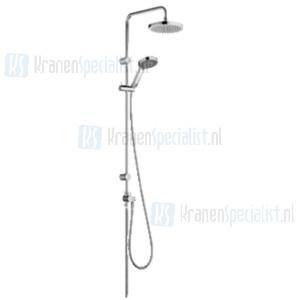 Kludi A-QA S Dual showersystem  met handdouche en hoofddouche chroom