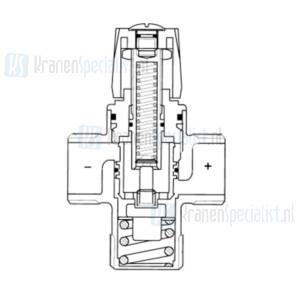Taco Universeel Mengautomaat met koppelingen 15 L/min 15 mm speciale uitvoering