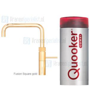 Quooker Fusion Square  3-in-1 kraan Goud incl Combi Plus E 2200W boiler