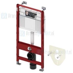 TECE onderdelen TECEprofil wc-inbouwframe met TECE spoelkast, frontbediening, bouwhoogte 1120 mm
