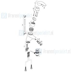 Venlo Onderdelen Axxel Bidetmengkraan A5212AA