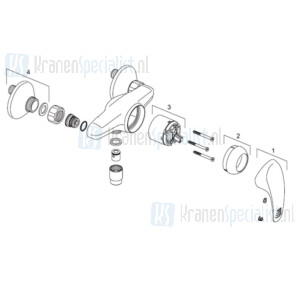 Venlo Onderdelen Arax Douchemengkraan H8218A01