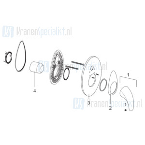Venlo Onderdelen Axxel Inbouw douchemengkraan H8333A01