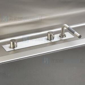 Vola Onderdelen Badkraan Type BK3 Monoknop met overloop-inlaatcombinatie en uittrekbare handdouche