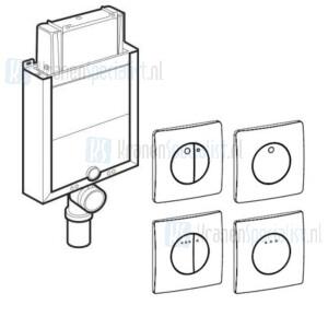 Wisa Onderdelen Inbouwtank Front Quadro-Uitvoering Wqu00000