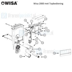 Wisa Onderdelen Wisa 2002 met Topbediening W2002000