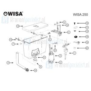 Wisa Onderdelen Wisa 250 (gemaakt tot 1997)