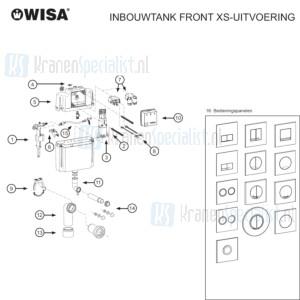 Wisa Onderdelen Inbouwtank Front Xs-Uitvoering Wxs000000