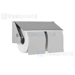 Wagner Ewar A-Line Closetrolhouder WP 149 Voor 2 closetrollen 240x110x90mm Polished RVS
