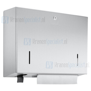 Wagner Ewar A-Line Combinatie WP 550 voor ca. 500 papieren handdoekjes en 500ml zeepdispencer 400x298x120mm Polished RVS