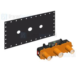 Gessi onderdelen Inbouwdelen 3-gats wastafelkraan