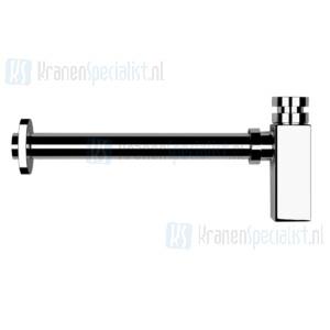 Gessi Inciso Bekersyphon 1 1/4 rechthoekig minimalistisch model. Brons Artikelnummer 01410.187