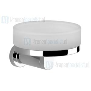 Gessi Emporio Accessories Zeephouder wandmontage met gesatineerd glas. Chroom Artikelnummer 38803.031