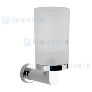 Gessi Emporio Accessories Glashouder wandmontage met gesatineerd glas. Chroom Artikelnummer 38809.031