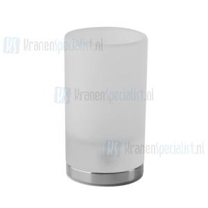 Gessi Emporio Accessories Glashouder staand met gesatineerd glas. Chroom Artikelnummer 38833.031