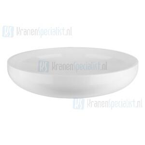 Gessi Goccia Sanitari Opbouwwastafel rond zonder overloop uit Ceramilux? (glanzend wit). Ceramilux Artikelnummer 39122.515