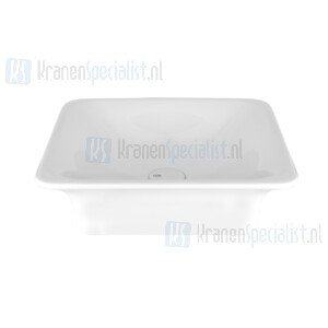 Gessi Ispa Sanitari Opbouw wastafel wit zonder overflow inclusief witte waste. White Europe Ceramic Artikelnummer 42001.518