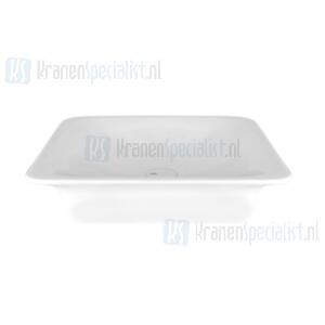 Gessi Ispa Sanitari Opbouw wastafel wit zonder overflow inclusief witte waste. White Europe Ceramic Artikelnummer 42002.518
