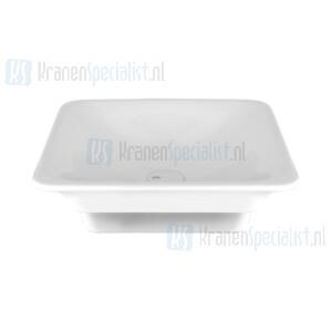 Gessi Ispa Sanitari Inbouw wastafel wit zonder overflow inclusief witte waste. White Europe Ceramic Artikelnummer 42003.518