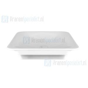 Gessi Ispa Sanitari Inbouw wastafel wit zonder overflow inclusief witte waste. White Europe Ceramic Artikelnummer 42004.518