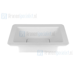 Gessi Ispa Sanitari Opbouwwastafel mat wit Cristalplant? zonder overflow inclusief waste. Cristalplant Artikelnummer 42006.521
