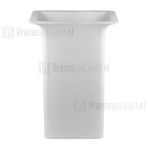 Gessi Ispa Sanitari Vrijstaande wastafel mat wit christalplant zonder overflow inclusief grill waste muurafvoer met sifon. Cristalplant Artikelnummer 42010.521