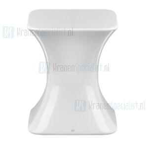 Gessi Ispa Complementi Helder witte kruk in Gres. Gres Artikelnummer 42030.519