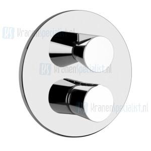 Gessi Cono Afbouwdeel voor inbouw 2-weg bad/douche thermostaatkraan 1/2 met 1/2 uitgangen filters en keramische schijven. Chroom Artikelnummer 45134.031