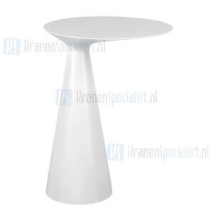 Gessi Cono Complementi Vrijstaand bijzettafeltje in mat wit Cristalplant?. Cristalplant Artikelnummer 45930.521