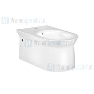 Gessi Cono Sanitari Wandbidet in Wit Europees Keramiek met overloop en kraangat. Afdekkap voor overloop en bevestigingspunten worden meegeleverd in White Europe Ceramic Artikelnummer 45935.518