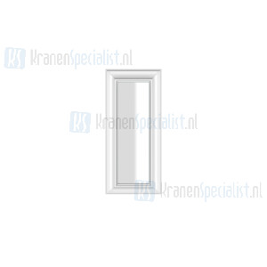 Gessi Eleganza Complementi Spiegel met wit frame muurmontage 420 x 900 mm. Structural Artikelnummer 46593.520