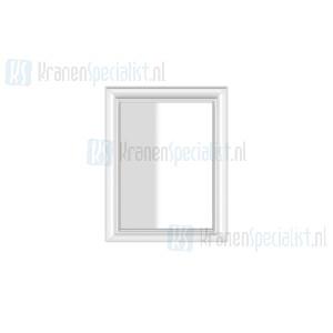 Gessi Eleganza Complementi Spiegel met wit frame muurmontage 700 x 900 mm. Structural Artikelnummer 46595.520