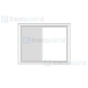 Gessi Eleganza Complementi Spiegel met wit frame muurmontage 1100 x 900 mm. Structural Artikelnummer 46597.520
