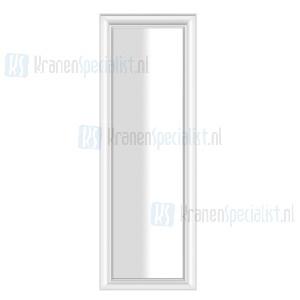 Gessi Eleganza Complementi Spiegel met wit frame vrijstaand/muurmontage 600 x 1800 mm. Structural Artikelnummer 46599.520