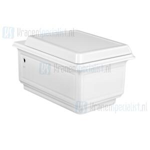 Gessi Eleganza Sanitari Hangwc uit wit Europees keramiek (6L) met  SOFT-CLOSE  toiletzitting inbegrepen. Afdekkap voor bevestigingspunten worden meege White Europe Ceramic Artikelnummer 46753.518