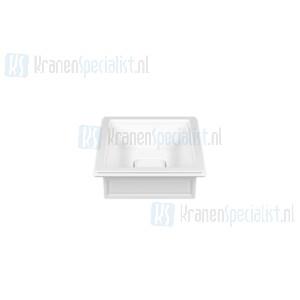 Gessi Eleganza Sanitari Opbouw of onderbouw wastafel uit wit Europees Keramik  zonder overflow. Voor onderbouw montage heeft men de montagekit R4268 no White Europe Ceramic Artikelnummer 46803.516