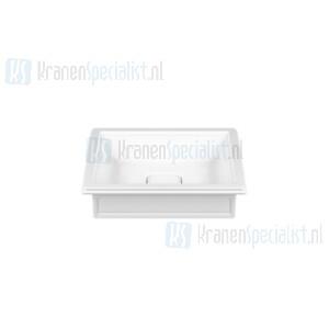 Gessi Eleganza Sanitari Opbouw of onderbouw wastafel uit wit Europees Keramik  zonder overflow. Voor onderbouw montage heeft men de montagekit R4268 no White Europe Ceramic Artikelnummer 46805.516