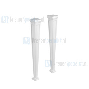Gessi Eleganza Sanitari Potenset mat wit Cristalplant? voor installatie art 46813 en art 46815. Cristalplant Artikelnummer 46817.521