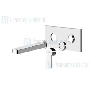 Gessi Corso Venezia Partes externas para mezclador monomando de lavabo para empotrar con ca?o sin desag?e. Chroom Artikelnummer 47190.031