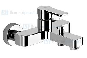 Gessi Corso Venezia Eengreeps badmengkraan met omstel en s-koppelingen zonder garnituur. Chroom Artikelnummer 47213.031