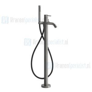 Gessi Bagno Gessi 316 Afbouwdeel voor staande badmengkraan vloermontage met handdouche en slang. Geborsteld Koper Artikelnummer 54028.708