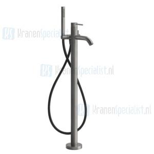 Gessi Bagno Gessi 316 Afbouwdeel voor staande badmengkraan vloermontage met handdouche en slang. Geborsteld Staal Artikelnummer 54028.239