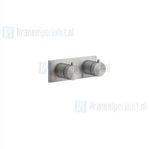 Gessi Bagno Gessi 316 Afbouwdeel voor inbouw 1-weg bad/douche thermostaatkraan 3/4 met 1/2 uitgang filters en keramische schijven. Geborsteld Koper Artikelnummer 54032.708